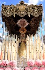 Fundición del cirio de los donantes de órganos en la candelería de la Santísima Virgen