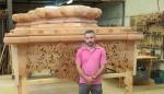 Enrique Gonzálvez, autor de la fase de carpintería del paso de Nuestro Padre Jesús de la Humildad