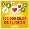"""Reparto de alimentos de la campaña """"100.000 kilos deilusión"""""""