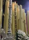 Fundido el cirio de los donantes de órganos en la candelería de la SantísimaVirgen