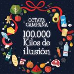 """Reparto de alimentos de la campaña """"100.000 kilos de ilusión"""""""