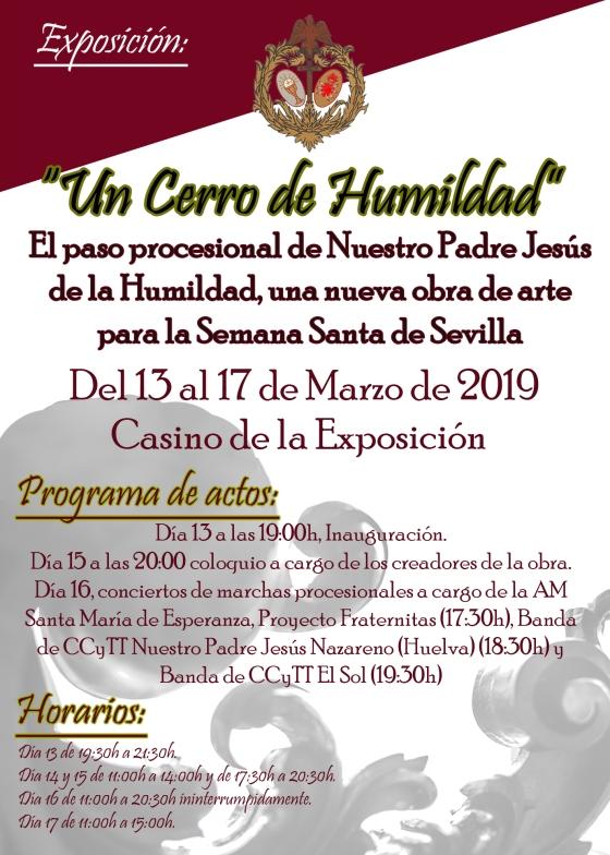 Cartel Exposición Un Cerro del Humildad
