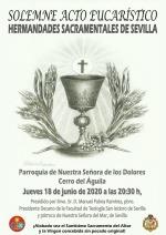 Solemne Acto Eucarístico de las Hermandades Sacramentales de Sevilla
