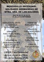 Mercadillo artesanal solidario de nuestra Diputación de Caridad